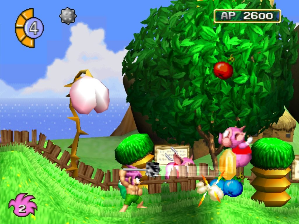 Screenshot of the PS1 videogame Tombi